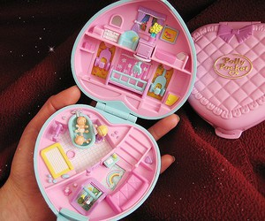 polly pocket, cute, and pink image
