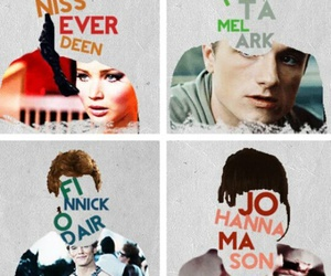 the hunger games, peeta, and katniss everdeen image