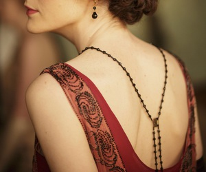 downton abbey, dress, and mary crawley image