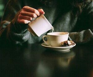 coffee, milk, and vintage image