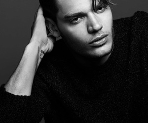 dominic sherwood, shadowhunters, and black and white image