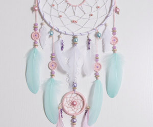 bohemian, handmade, and large dream catcher image