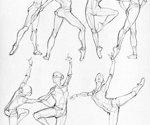 art, ballet, and pencil image
