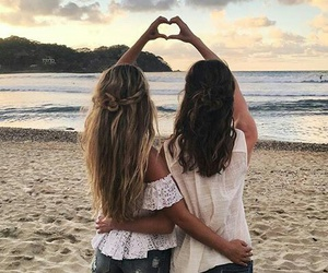 bff, hair, and friendship image