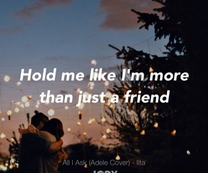 falling in love, friend, and hold image