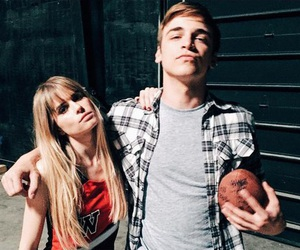 scream, carlson young, and sean grandillo image