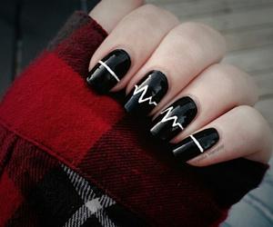 nails, black, and arctic monkeys image