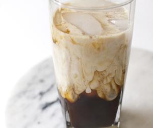 coffee, glass, and milk image