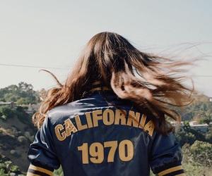 girl, california, and hair image