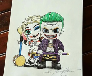 joker, suicide squad, and drawing image