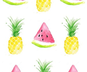 art, watermelon, and pineaple image