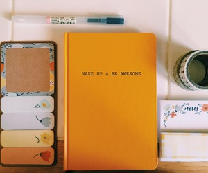 yellow, notebook, and school image