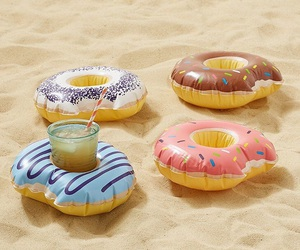 summer, beach, and donuts image
