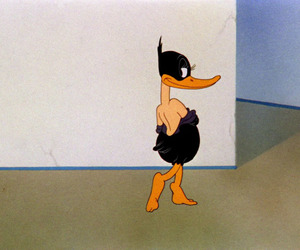 cartoon, daffy duck, and funny image