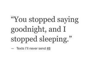 goodnight, quotes, and sad image