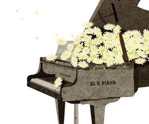 art, artist, and daisy image