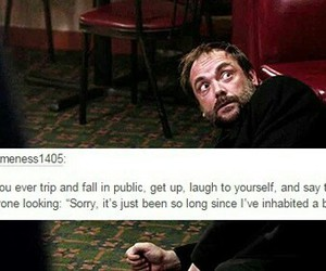 supernatural, crowley, and show image