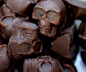 chocolate, skull, and food image