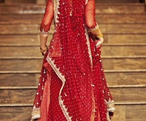 bride, beautiful, and red image