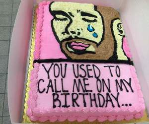 Drake, cake, and birthday image
