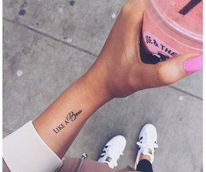tattoo, boss, and drink image