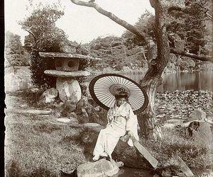 garden, girl, and japan image