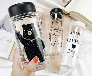 bottle, bear, and drink image