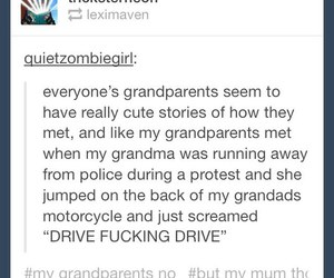 funny, tumblr, and grandparents image