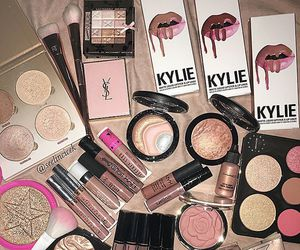 makeup, lipstick, and eyeshadow image