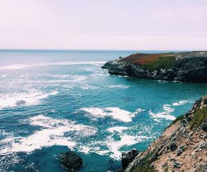cliff, ocean, and sea image