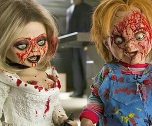 Chucky, blood, and horror image