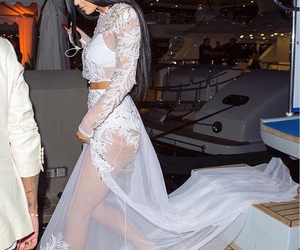 kylie jenner, dress, and white image