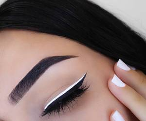 black, makeup, and style image