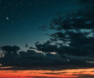 stars, moon, and clouds image