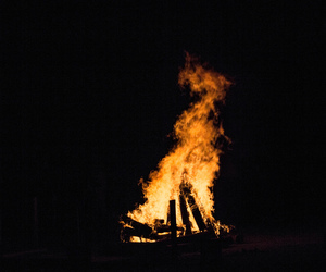 bonfire, celtic, and dark image