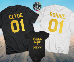 bonnie and clyde, etsy, and young and wild image