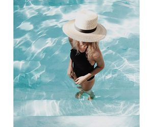 summer, pool, and fashion image