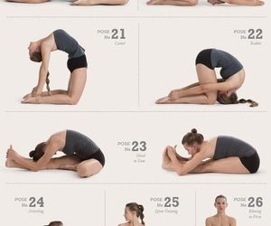 beuty, poses, and yoga image