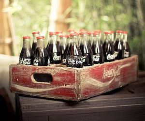 vintage, coca cola, and drink image