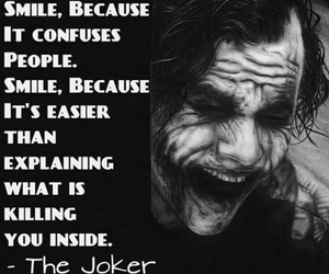 smile, joker, and quotes image