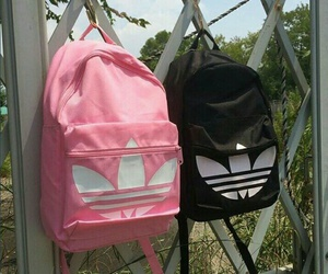 adidas, pink, and black image