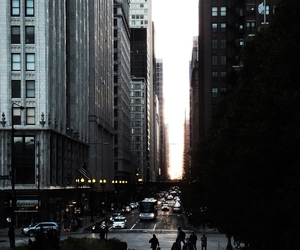 chicago, illinois, and lights image