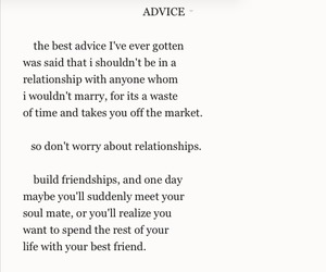 love, advice, and quote image