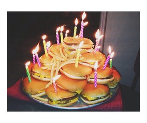 food, birthday, and hamburger image