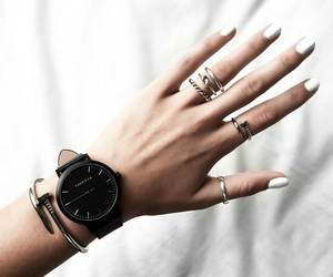 fashion, nails, and watch image