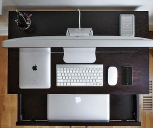 imac, apple, and iphone image