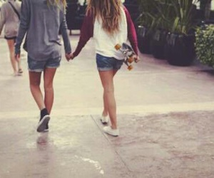 couple, Relationship, and skate image