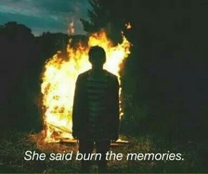 burn, memories, and fire image