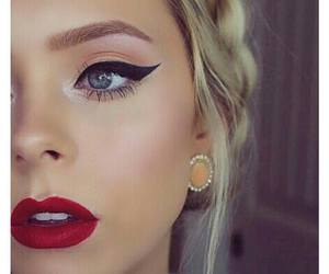 beautiful, amazing makeup, and blondie image