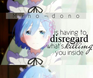 anime, quote, and rem image